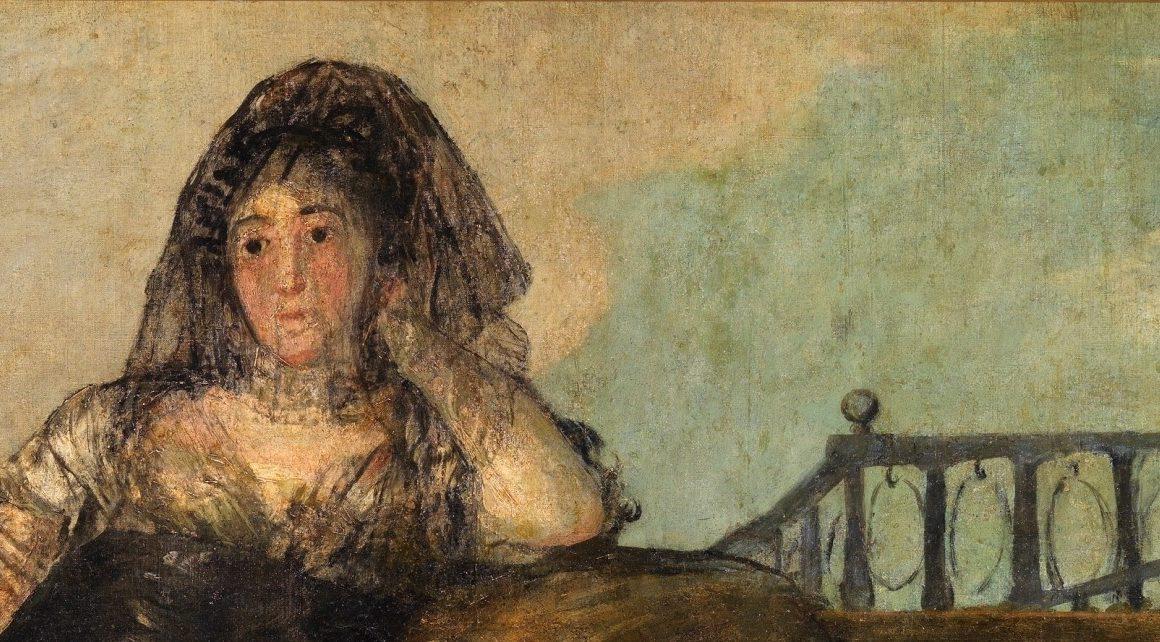 Una Manola: Leocadia Zorrilla de Francisco de Goya y Lucientes (Museo del Prado) 1820-1823