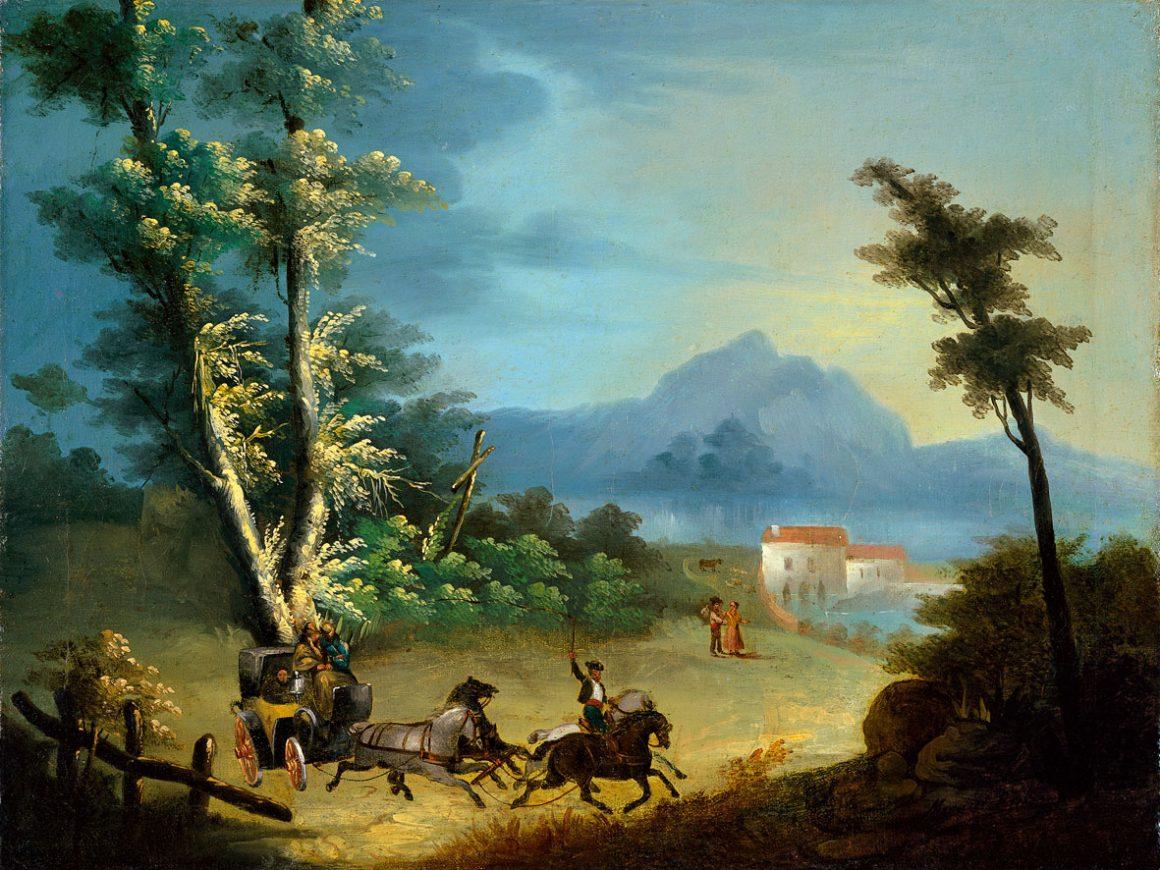 La Diligencia de Manuel Barrón y Carrillo (1835) Colección Carmen Thyssen-Bornemisza en préstamo gratuito al Museo Carmen Thyssen Málaga